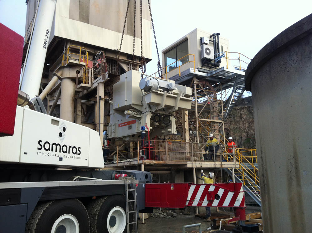 Primary Crusher And Control Cabin Replacement