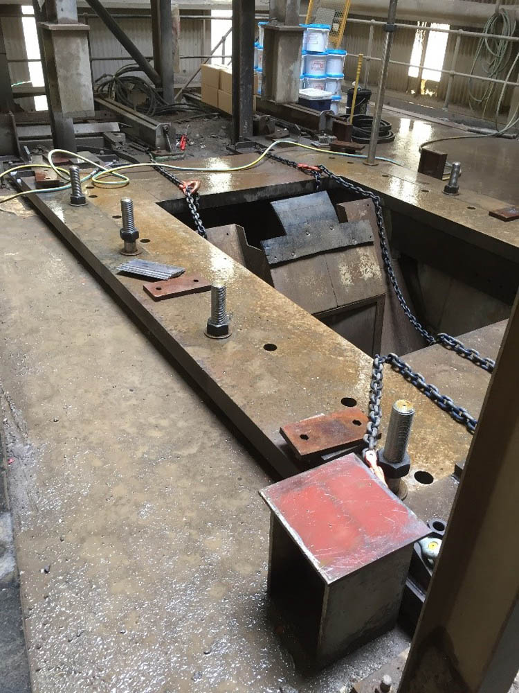 Crusher Base Plate Replacement